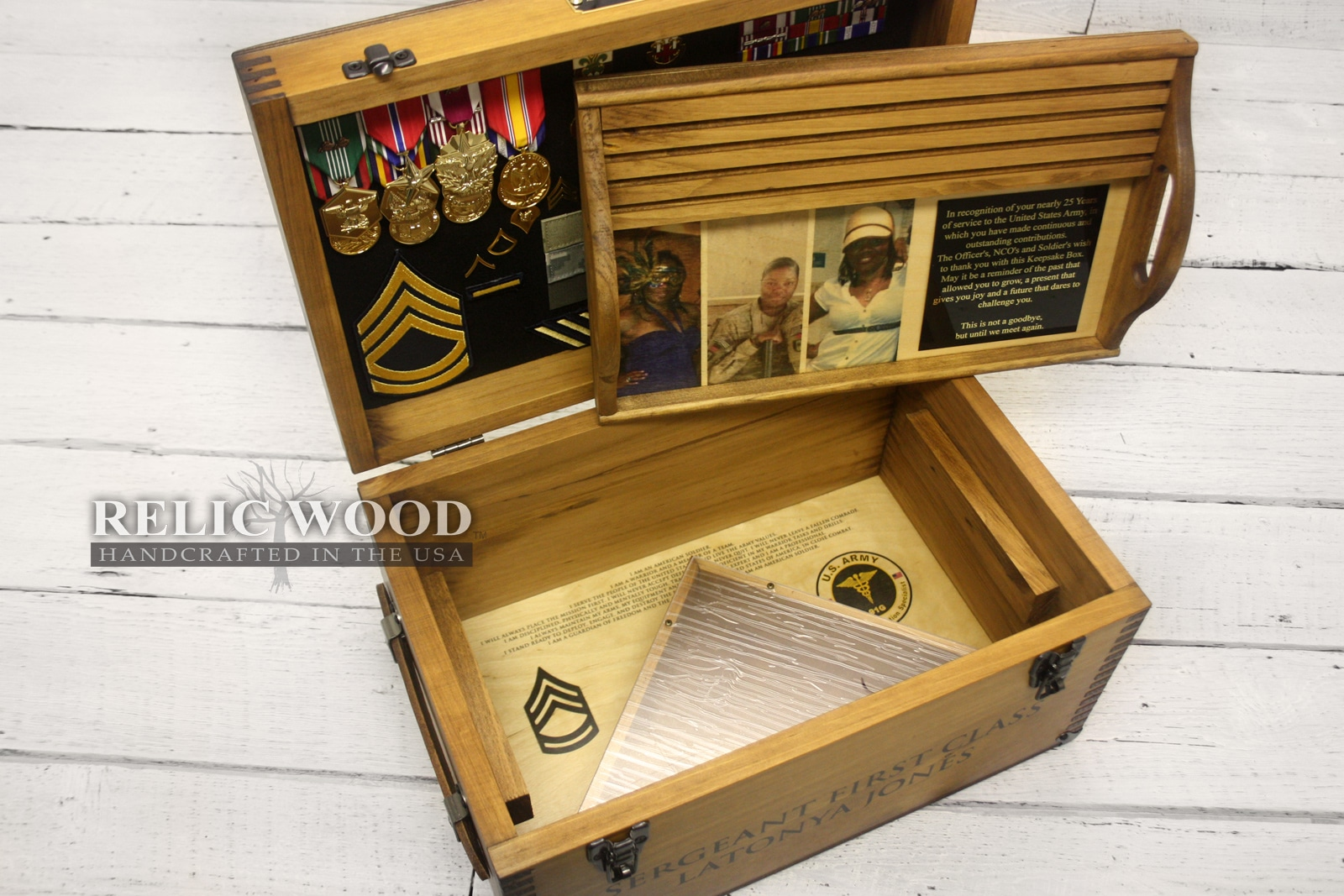 Embedded In The Wood And Full Color Artwork Will Differ Somewhat From Renderings We Look Forward To Making Your Custom Military Keepsake Box Soon