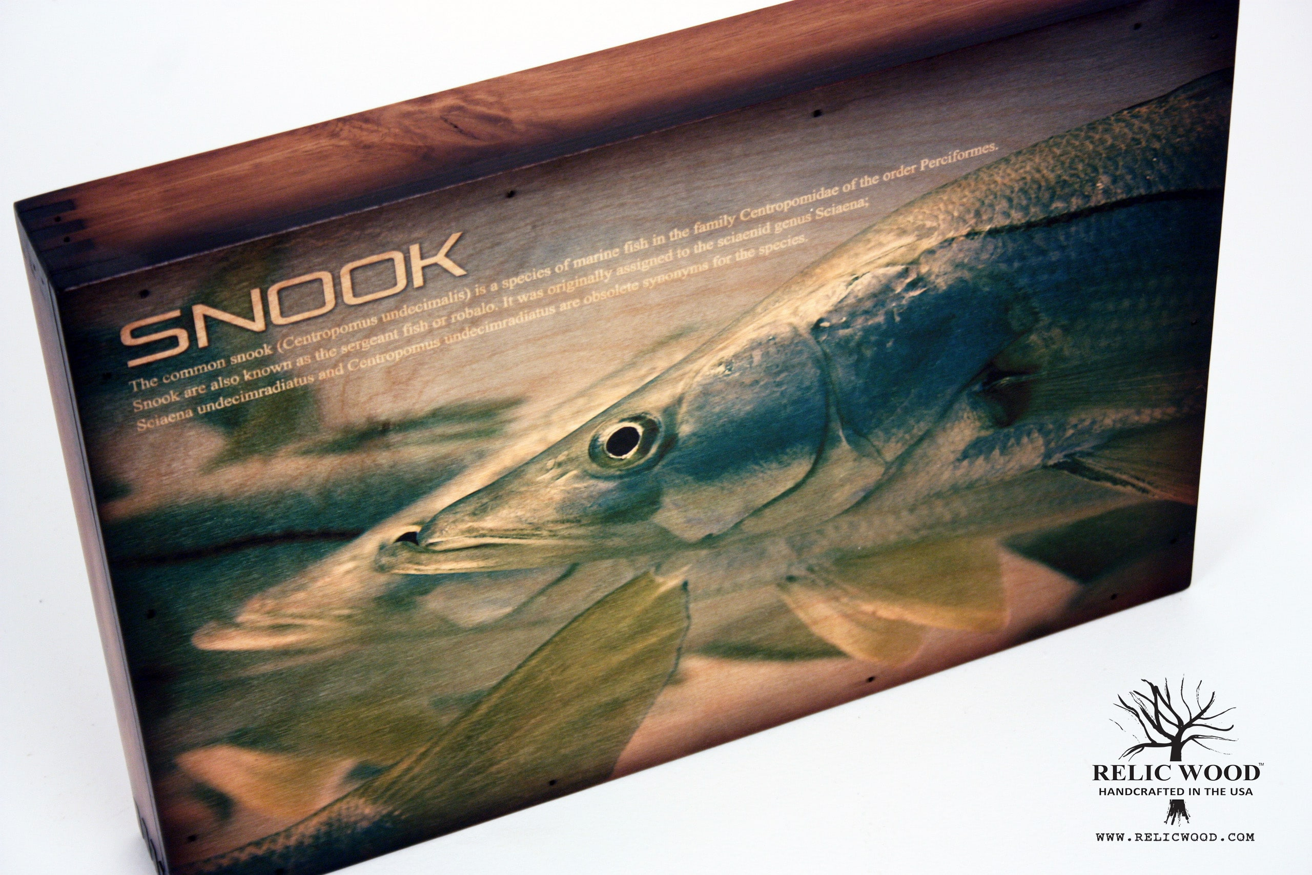Snook Fishing Handcrafted Wall Art