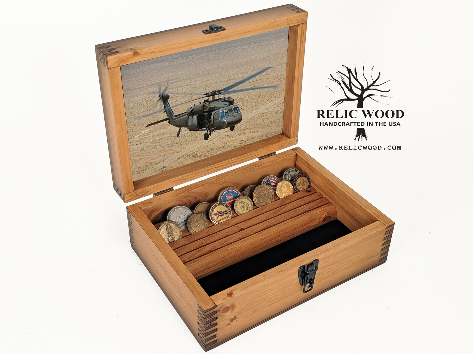Custom Military Challenge Coin Display Case