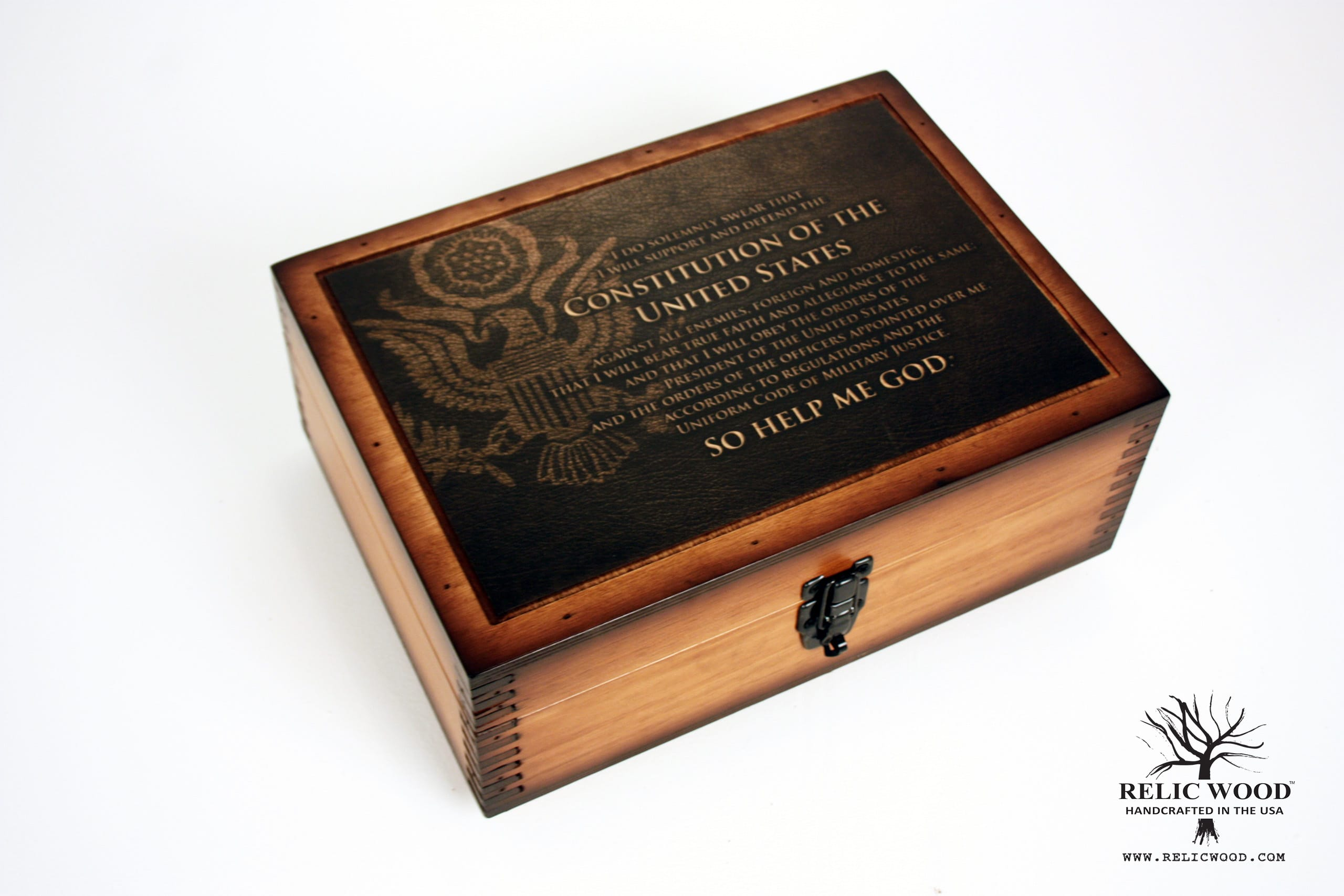 Military Oath of Enlistment Challenge Coin Display Case